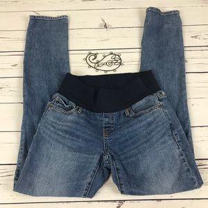 Gap 1969 Maternity Demi Panel 26 Long Denim Jeans